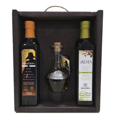 Estuche aceite oliva - ParqueOliva 3 Botellas