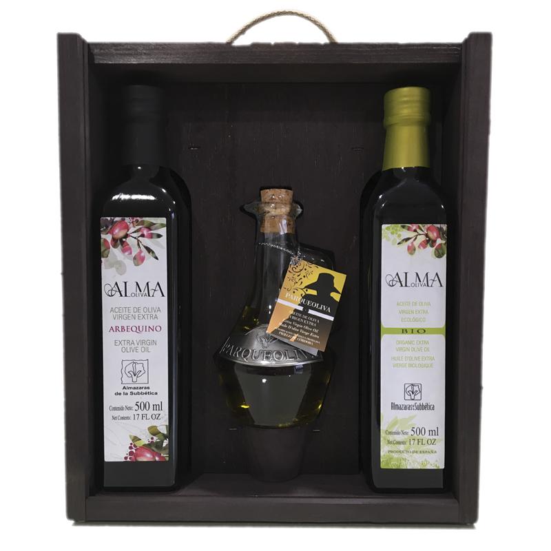 Regalo de Empresa Original con con aceite de oliva puro y natural de Priego de Córdoba