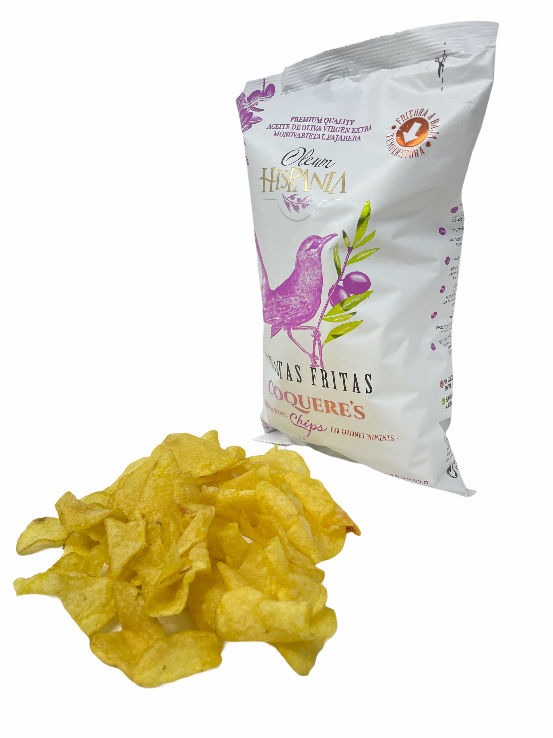 Las nuevas patatas fritas Coqueres estan riquisimas, son sanas y saludables  y están fritas con aove pajareja