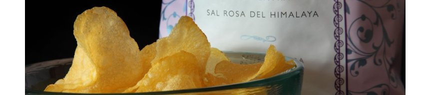 Fries San Nicasio potato chips with Virgin olive oil extra and pink salt