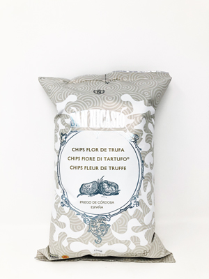 Patatas fritas san nicasio, las únicas patatas fritas con denominación de origen priego de cordoba que además tienen el premio a las mejores patatas fritas del mundo. Ahora la variedad con trufa da un sabor especial a trufa. Siendo este un producto gourmet de los más exquisitos paladares.